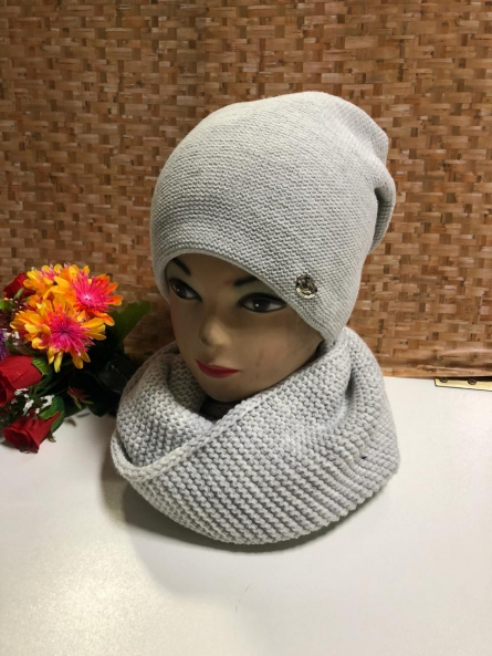Шапка и шарф - KJV1J4