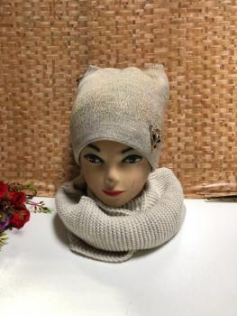 Шапка и шарф KF4142