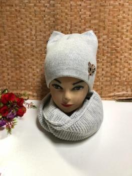 Шапка и шарф KF4141
