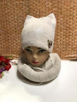 Шапка и шарф KF4140